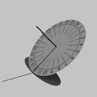 Equatorial sundials